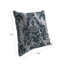 Skipper Grey Viscose & Polyester 16 x 16 Inch Nature & Florals Cushion Covers - Set of 3