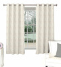Skipper Grey Polyester & Cotton Abstract Pattern Window Curtain - Set of 2