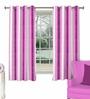 Skipper Neutral Purple Cotton & Viscose Abstract Stripe Pattern Window Curtain - Set of 2