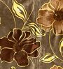 Skipper Brown Poly Cotton Floral Window Curtain - Set of 2