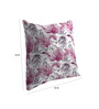 Skipper Purple Polyester & Viscose 16 x 16 Inch Leafs Cushion Covers - Set of 3