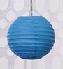 Skycandle Blue Round Paper Lantern