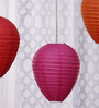 Skycandle Multicolour Paper Lantern - Set of 3