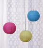 Skycandle Pink, Blue, & Yellow Paper Lantern - Set of 3