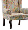 Slipknot Wing Chair in Provincial Teak Finish by Bohemiana