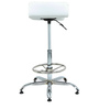 Slopy Bar Stool in White by The Furniture Store