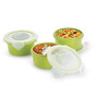 Smart Lock Airtight Tiffin Box With Insulated Bag Melamine Green Set of 3