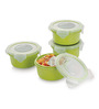 Smart Lock Yellow Melamine 225 ML Lunch Box With Bag - Set of 4