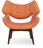 Smiley  Accent Chair in Burnt Orange Colour by FurnitureTech