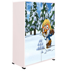 Snow Penguin Kids Wardrobe In Multi Colour By BigSmile Furniture