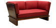 Solnatez Two Seater Sofa in Maroon Colour by Tezerac