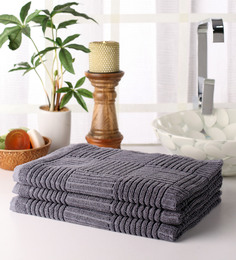 Softweave Grey Cotton 39 X 20 Hand Towel - Set Of 3 - 1503090