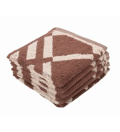 Softweave Multicolour 100% Cotton 12 X12 Face Towel - Set Of 5 - 1590699