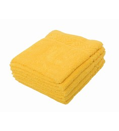 Softweave Yellow 100% Cotton 12 X12 Face Towel - Set Of 5