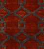 Sofiabrands Brown & Red Woolen 96 x 60 Inch Abstract Carpet