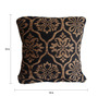 Sofiabrands Brown & Black Viscose & Cotton 18 x 18 Inch Cushion Cover - Set of 3