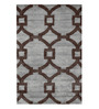 Sofiabrands Grey & Brown Woolen 96 x 60 Inch Abstract Carpet