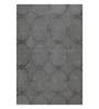 Sofiabrands Grey Woolen 96 x 60 Inch Circular Pattern Carpet