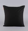 Solaj Black & White Cotton 18 x 18 Inch Woven Cushion Cover