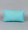 Solaj Blue Cotton 16 x 10 Inch Woven Cushion Cover