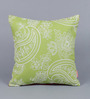 Solaj Green Cotton 16 x 16 Inch Paisley Cushion Cover