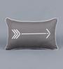 Solaj Grey Cotton 12 x 18 Inch Printed Cushion Cover