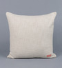 Solaj Ivory Cotton 18 x 18 Inch Embroidery Cushion Cover