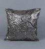 Solaj Multicolour Cotton 18 x 18 Inch Beaded Cushion Cover