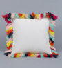 Solaj Multicolour Cotton 18 x 18 Inch Tassels on Cotton Cushion Cover