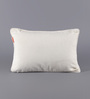 Solaj Off White Cotton 12 x 18 Inch Embroidered Cushion Cover