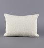 Solaj White Cotton 12 x 16 Inch Sequence Cushion Cover