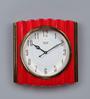 Solar Red Plastic 12 x 2 x 12 Inch Swift Wall Clock