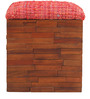 Sole Box Pouffe Warm Rich Finish by Inliving
