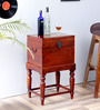 Amherst Bar Cabinet in Honey Oak Finish by Amberville