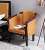 Hughes One Seater Sofa in Espresso Walnut Finish by Woodsworth