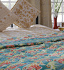 Soma Blue Abstract Cotton Single Size Quilt 1 Pc