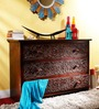 Nimilita Chest Of Drawers in Passion Mahogany Finish by Mudramark