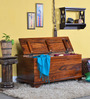 Araka Trunk in Honey Oak Finish by Mudramark