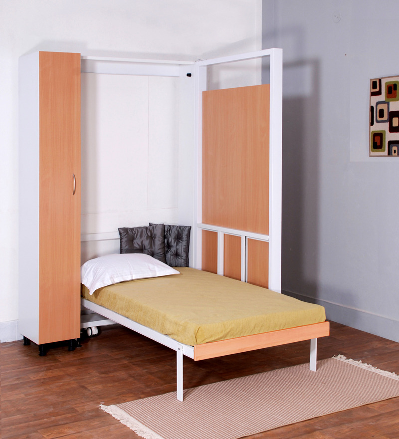 Buy Spaceone Space Saving Single Bed cum Four Seater  : spaceone space saving single bed cum dining table cum wardrobe spaceone space saving single bed cum q8tkml from www.pepperfry.com size 800 x 880 jpeg 167kB