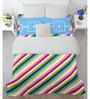 Spaces Blue Cotton Queen Size Allure Bedsheet - Set of 3