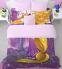 SPACES Disney Rapunzel Lavender Double Bedsheet with 2 Pillow Cover