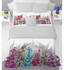 Spaces Grey 100 % Cotton King Size Courtyard Bedsheet - Set of 3