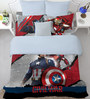 SPACES Marvel Civil Wars Red Double Bedsheet with 2 Pillow Cover