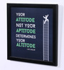Speaking Frame Wood & Acrylic 8 x 8 Inch Attitude & Altitude Framed Poster