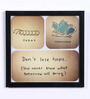 Speaking Frame Wood & Acrylic 8 x 8 Inch Don't Lose Hope Framed Poster