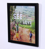 Speaking Frame Wood & Acrylic 8 x 8 Inch See & Love World Framed Poster