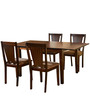 Spectrum Four Seater Solid Wood Dining Set in Antique Oak Finish by @Home