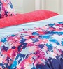 Esprit Home Flower Pattern Multicolour 100% Cotton Abstract Double Bed Sheet