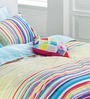 Esprit Home Rainbow Stripes Multicolour 100% Cotton Abstract Bed Sheet