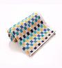 Spread Lasa Checkered Blue Cotton Hand Towel